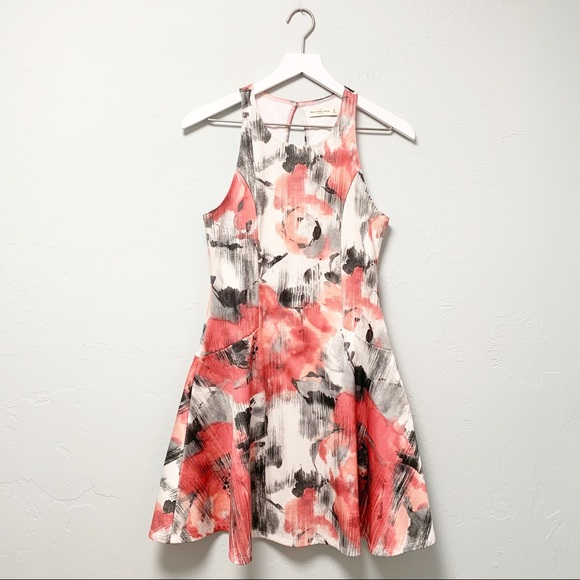 Abercrombie & Fitch Dresses & Skirts - A&F Abstract Floral Print Skater Style Mini Dress